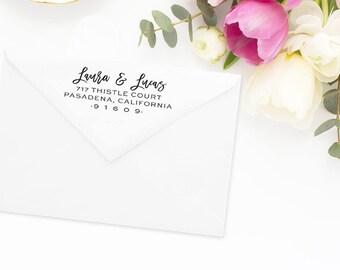 Return Address Stamp, Address Stamp, Custom Address Stamp, Wedding Return Address Stamp, Personalized Return Address Stamp, Rubber Stamp #61