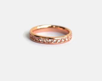 morganite ring, morganite engagement ring, morganite eternity band, morganite eternity ring, rose gold and morganite  eternity band