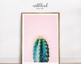 Cactus Print, Cactus Wall Art, Tropical Print, Plant Print, Succulent Print, Cactus Poster, Boho Poster, Instant Download, Digital Print