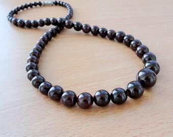 Garnet necklace January Birthstone Necklace for Women necklace Gift for her Gemstone necklace Birthday Gift for women Bead necklace Jm