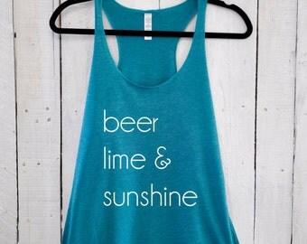 Beer Lime & Sunshine, tank top