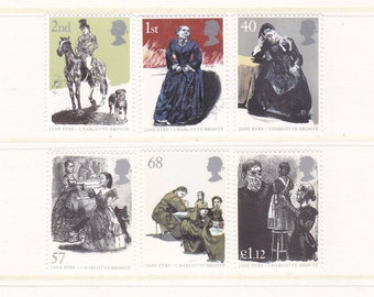 2005 Jane Eyre Mint Unused Postage Stamps for letter art, Charlotte Bronte, Mr Rochester, literature, books, female authors, Currer Bell