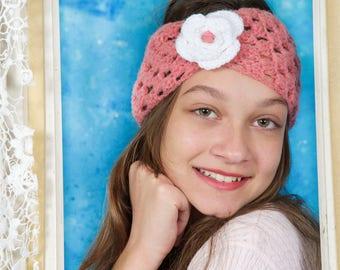 Crochet baby headband, Knit baby headband, Knit ear warmer, Baby girl accessory, Baby gift, Gift for her, Crochet head wrap, Baby girl