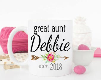Great Auntie mug, Great Aunt Gift, Pregnancy Announcement, Pregnancy Reveal, Gifts for Auntie, Aunt to be, Gift for sister