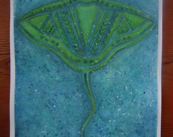 Print of Moana's Tala inspired manta ray