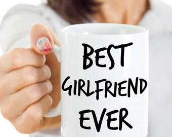 Valentine's Gift For Girlfriend - Anniversary Gift, Valentine's Day Gift For Her - Best Girlfriend Ever Coffee Mug - Dishwasher Safe Cup