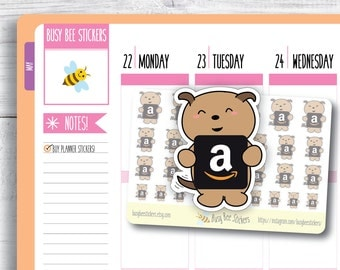 Amazon Planner Stickers, Online Shopping Stickers, Dog Stickers, Amazon Addict, Amazon Icon, Happy Planner Stickers, Erin Condren Stickers.