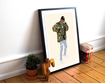 Travis Scott Poster / Travis Scott Print / Minimalist Art / Travis Scott / Hip Hop poster / Rap Poster / Music Poster / Travis Scott Art