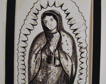 Virgin de Guadalupe - (5x7 ink print)