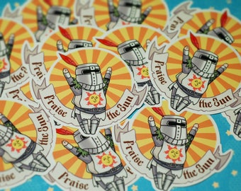Praise The Sun Solaire Vinyl Sticker