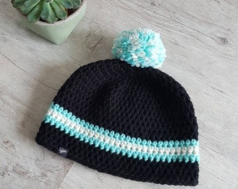 Beanie with Bobble + cap