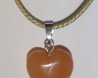 Carnelian Pendant Heart Polished Stone Charm Strand Authentic Exclusive Natural Color Bead Therapy Healing Best quality