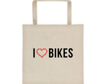 I Heart Bikes Tote bag