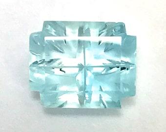 Fantasy Cut Blue Topaz Gemstone