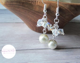 Swarovski Crystal Earrings, Bridal Earrings, Crystal Earrings, Wedding Jewelry, Dangle Earrings, Swarovski Earrings, Gift for Her