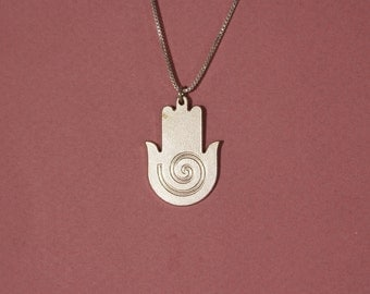 Hamsa necklace from israel spiral hamsa necklace hamsa necklace evil eye hamsa necklace mens hamsa necklace womens