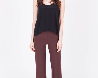 Bamboo french terry  track/lounge pant