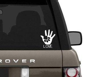 Love palm paw sticker
