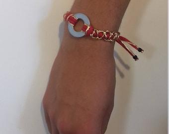 Chaleur d'été - Bracelet rouge et or