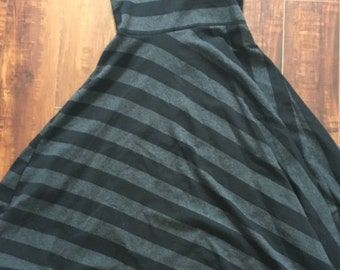 Vintage Black/Grey Halter Dress