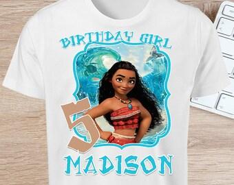 ON SALE 30%Moana Iron On - Moana T-shirt Iron On - Moana Shirt - Moana Birthday Party