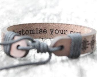 Personalized leather bracelet, leather bracelet, personalized gift, leather gift, personalized gift, engraved bracelet, both side engraved