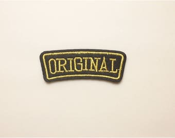 Original patch - iron on patch word, embroidered patch letter, sew on patch, original, patch for hat