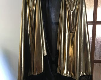 Gold Festival Cape with Fringing