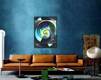 Cosmic Explosion Wall Art, Cosmic Art, Digital Print, Home Decor, Instant Download, Galaxy Art, Abstact Art, Digital Art, Printable Art