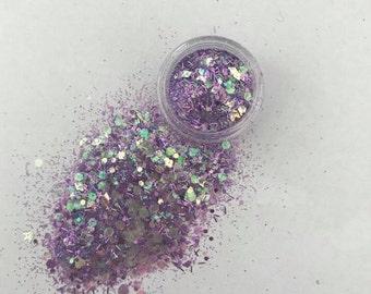 Magical Purple Face Glitter