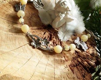 Bracelet en jades jaune (jade néphrite) par Angel'S SignS
