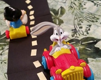 1992 Bugs Bunny Toy/ Looney Tunes Quak Up Cars/ Vintage Happy Meals Toy/ Super Stretch Limo/Vintage 90's