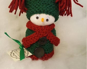 Snowman Snowgirl, just the right touch decoration!