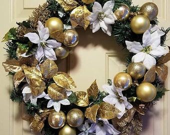 Golden Festive Wreath