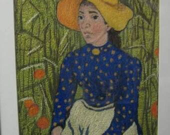 Peasant Woman in Wheat Field