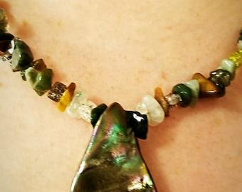 Handmade Teardrop Shell Necklace