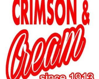 Crimson & Cream since 1913 SVG