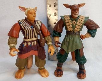 Play'em 1997 Warriors of Virtue Tsun, Yun, & Lai figures kangaroo action figure toys