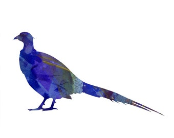 Pheasant Animal Totem Abstract Print