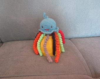 Octopus or plush blanket crochet