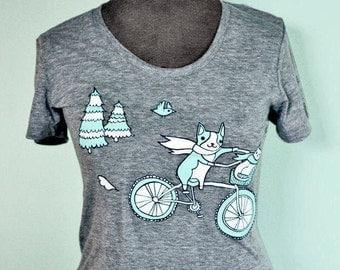 bicycle t shirts summer outdoors t shirt women - tshirt women, graphic tee, gift for her, gift women, womens graphic tees, bike tshirt