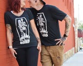 RESERVED for Chameli Woodward : Til Death. Cotton Black T-Shirts.