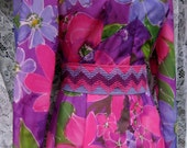 XS sized MASQUERADE 60s / 70s gown, Purple Pink Flowers Teens or Ladies floral maxi gown Extra long dress for small build, 1960s 1970s prom