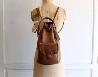 vintage Coach backpack | Coach bucket bag | leather backpack