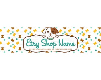 Etsy Cover Photo - Etsy Shop Covers - Puppy Etsy Shop Cover -  Puppy Etsy Shop Cover Photo - Dog Etsy Shop Cover - Puppy Dog 4