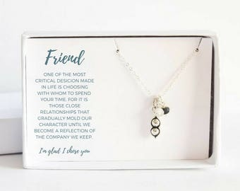 Silver Best Friend Necklace - Best Friend Birthday Gift - Silver Peas Jewelry - Custom Friendship Necklace - Silver Peas Necklace