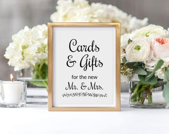 Wedding card box sign, Gift table sign, Printable wedding, Wedding sign, Cards and gifts, Wedding card sign, Wedding gift sign, Rochester