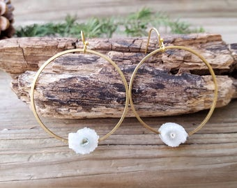 Druzy Earrings Circle Earrings Mineral Jewelry Crystal Hoop Earrings Quartz Earrings Boho Hoop Earrings Raw Quartz Earrings Dynamo