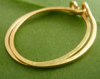 Large 22k Gold Hoop Earrings, 1 Inch Thin Timeless Hoops, Gold Creoles. Handmade Earrings, 25 mm Gold Hoop Earrings
