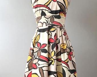 50s Hawaiian Dress, Polynesian Dress, Tiki Dress, 50s Retro Dress, Vintage Hawaiian Dress, Mid Century Dress, Hawaiian Fashion